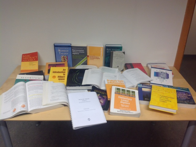 Math books at NTNU